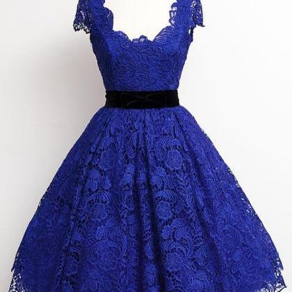 Royal Blue Lace Homecoming Dresses ..
