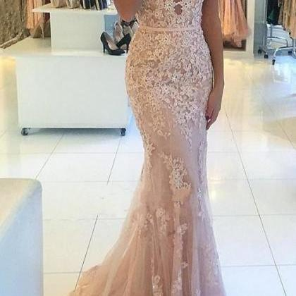 Mermaid Lace Prom Dresses,Prom Dres..