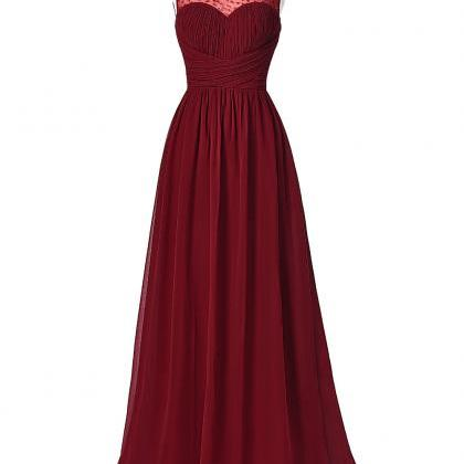 Long Burgundy Prom Dresses 2016 Sl..
