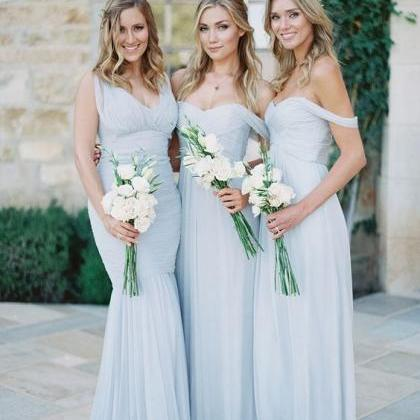 Sky Blue Bridesmaid Dresses,Off The..