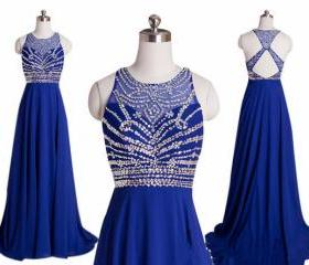 Royal Blue Chiffon A..