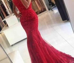 Red Mermaid Prom Dre..