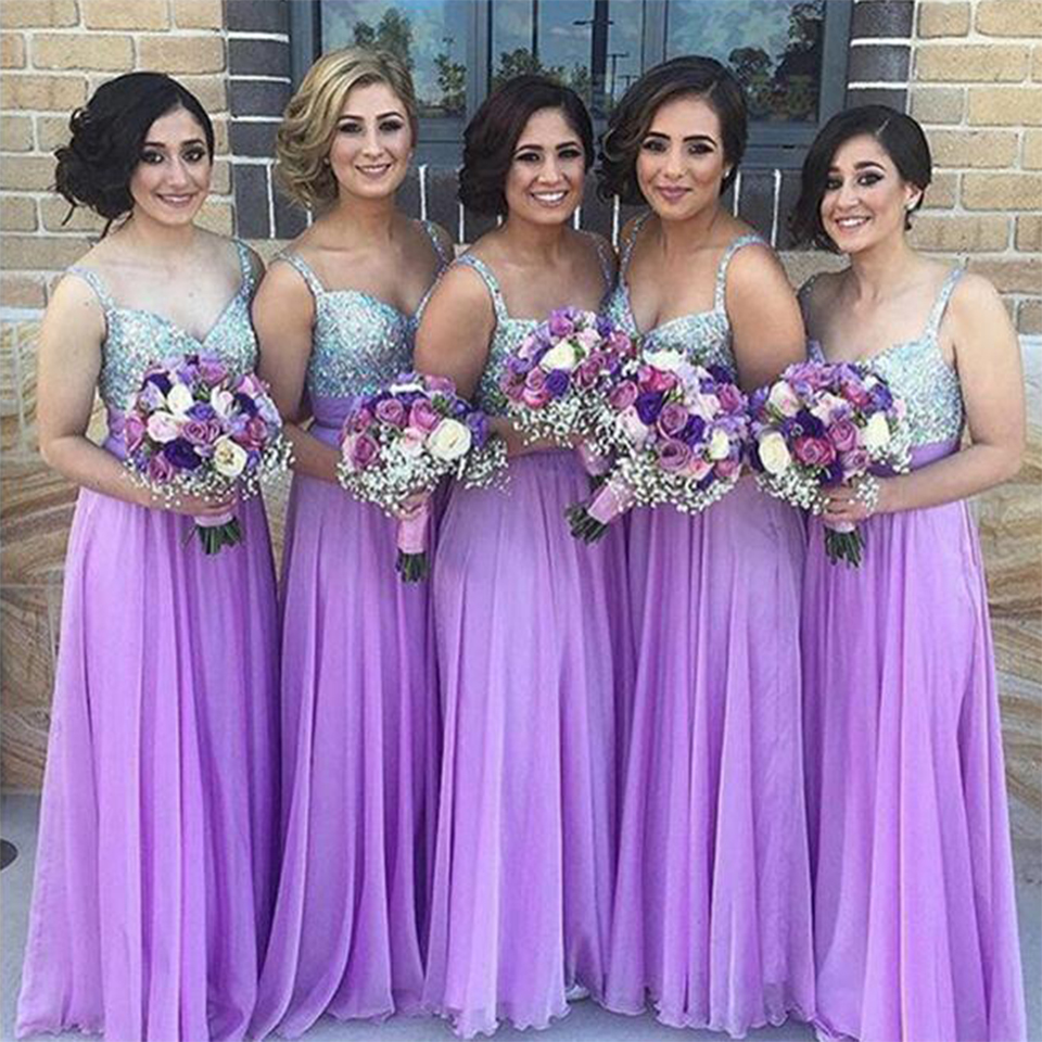 Light Purple Bridesmaid Dresses,Beaded Bridesmaids Dresses,Formal ...