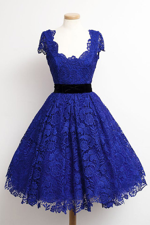 Royal Blue Lace Homecoming Dresses Cheap Short Prom Dress Special Occasion Party Dress