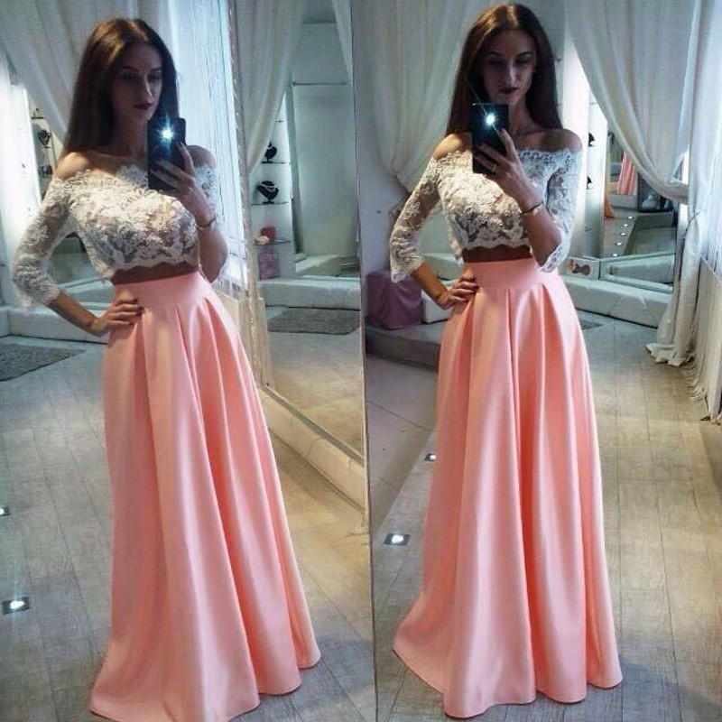 Two Piece Prom Dresses,Prom Dresses For Women,Formal Evening Gowns ...