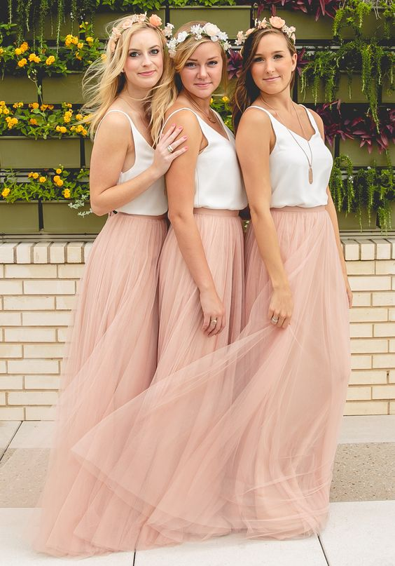 Peach Bridesmaid Dresses,Cheap Wedding Guest Dress,Simple Maid Of ...
