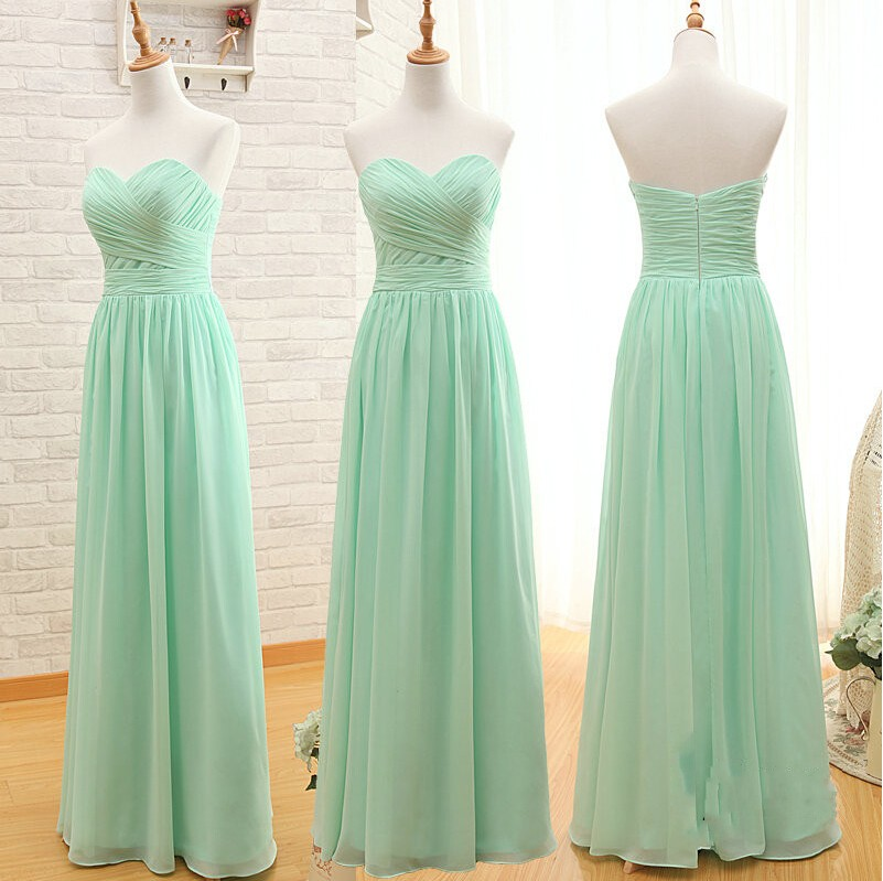 Mint Green Prom Dressmint Green Sweetheart Prom Dresswedding Party