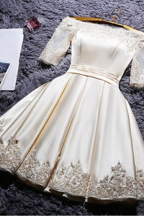 Champagne Homecoming Dresses,Short Prom Dresses,Party Dresses 2017
