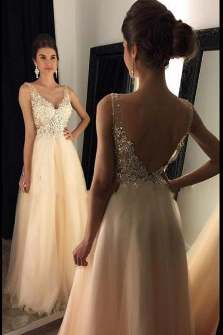 One Shoulder Beaded Prom Dresses 2018 Sheer A Line Evening Dresses Women Formal Party Dresses