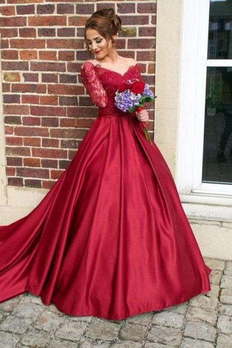 Ball Gown Prom Dresses Long Sleeves 2018 Robe De Soiree Women Evening Gowns Formal Dress