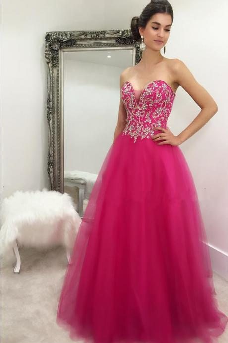 Sweetheart Prom Dresses,A Line Prom Dress,Formal Dress,Evening Gowns,Party Dress