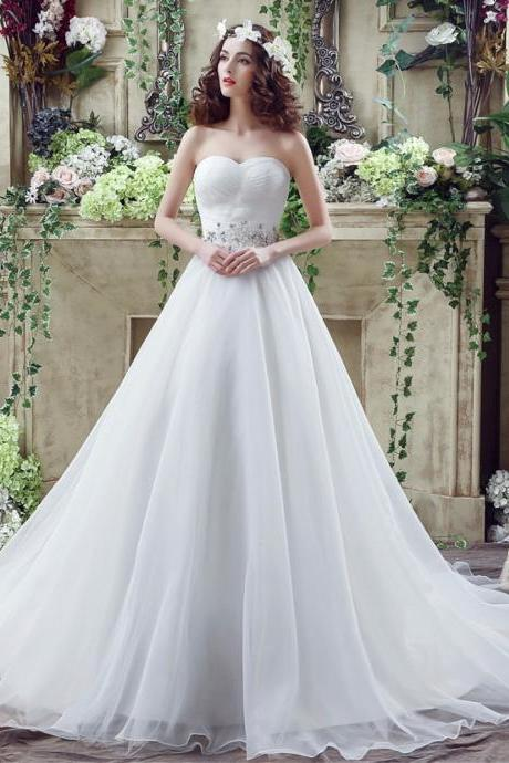 Sweetheart Wedding Dresses,A Line Wedding Dress,Bridal Gowns 2018,Vestido De Novia