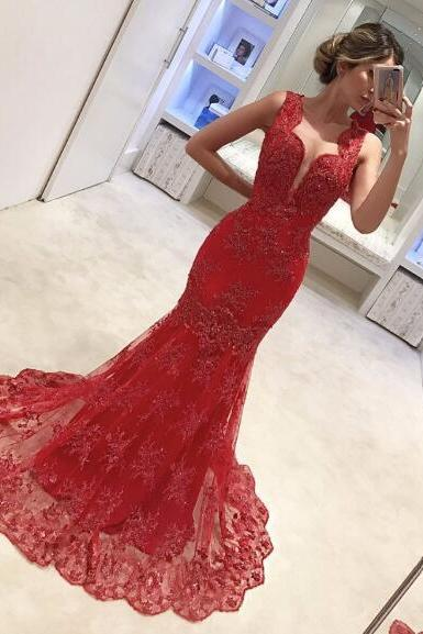 Mermaid Prom Dresses,Lace Prom Dress,Arabic Evening Gowns,Women Formal Dress,Banquet Dress