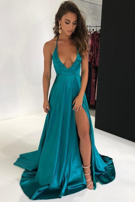 A Line Prom Dresses,Prom Dresses 2018,Floor Length Evening Gowns,Women Formal Dress,Party Dress