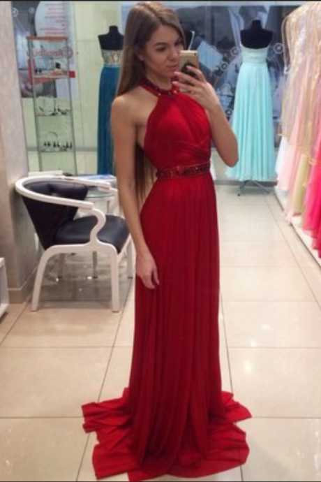 Red Dresses,Cheap Prom Dresses,Chiffon Evening Gowns,A Line Formal Dress,Banquet Dress,Prom Dress 2018