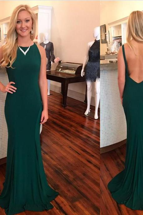 Dark Blue Prom Dresses,Mermaid Prom Dress,Backless Prom Dress,Evening Gowns,Formal Dress,Banquet Dress