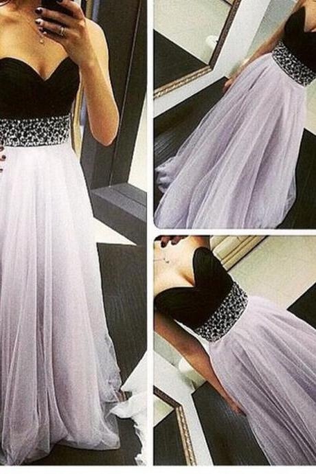 New Lavender Tulle Prom Dresses 2016, Long Prom Dresses 2016, Prom Gowns, Evening Gowns,Sweetheart Prom Dress,Formal Dress