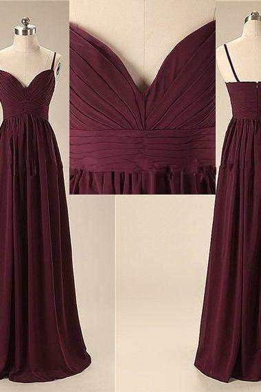 Sexy Sweetheart Prom Dress,Handmade Long Sweetheart Straps Simple Prom Dresses, Long Prom Gowns, Bridesmaid Dresses, Wedding Party Dresses,Formal Women Evening Dress