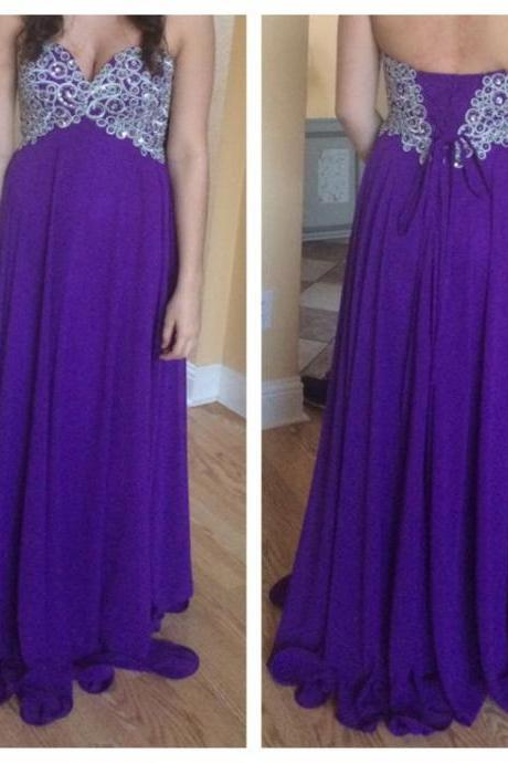 2016 New Arrival Royal Blue Prom Dress,Long Prom Dress,Sweetheart Prom Dress,Chiffon Prom Dress,Cheap Prom Dress,Blue Women Dress,Evening Dress