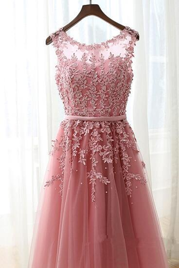 2017 Lovely Handmade Pink Tulle Knee Length Prom Dresses,short Cute Homecoming Dresses, Sweet 16 Dresses