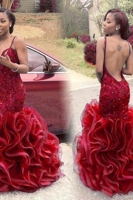 African Prom Dresss,Backless Prom Dresses,Mermaid Prom Dresses 2017,Formal Evening Gowns