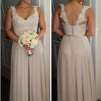 Champagne Bridesmaid Dresses,Cheap Maid Of Honor Dress,Wedding Guest Dress