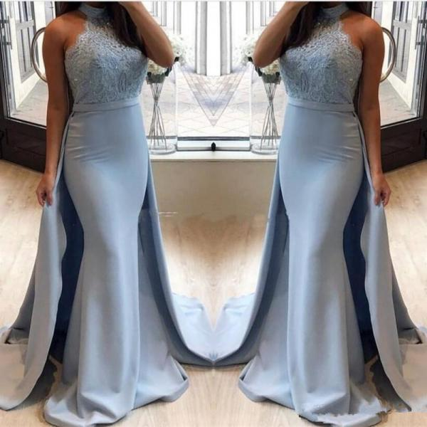 Mermaid Prom Dresses,Prom Dress With Detachable Train,Evening Gowns,Formal Dress,Banquet Dress,Prom Dress Long 2019