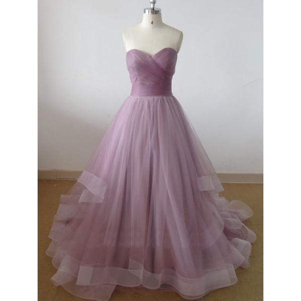 Sweetheart long prom dress,handmade tulle formal evening dress,new 2016 long evening dress,prom gowns